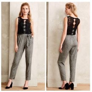 Anthro | Elevenses Lace Medley Jumpsuit Size 6